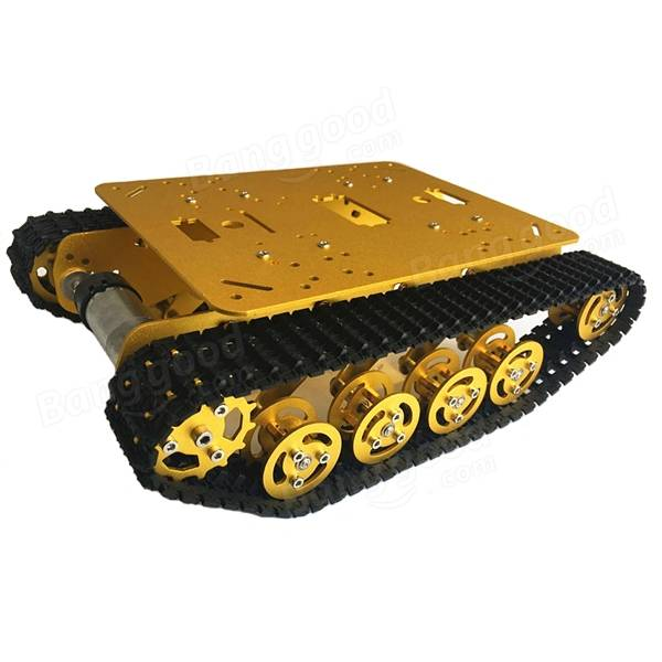 SN2500 Shock Absorption Metal Robot Tank Chassis Caterpillar Suspension