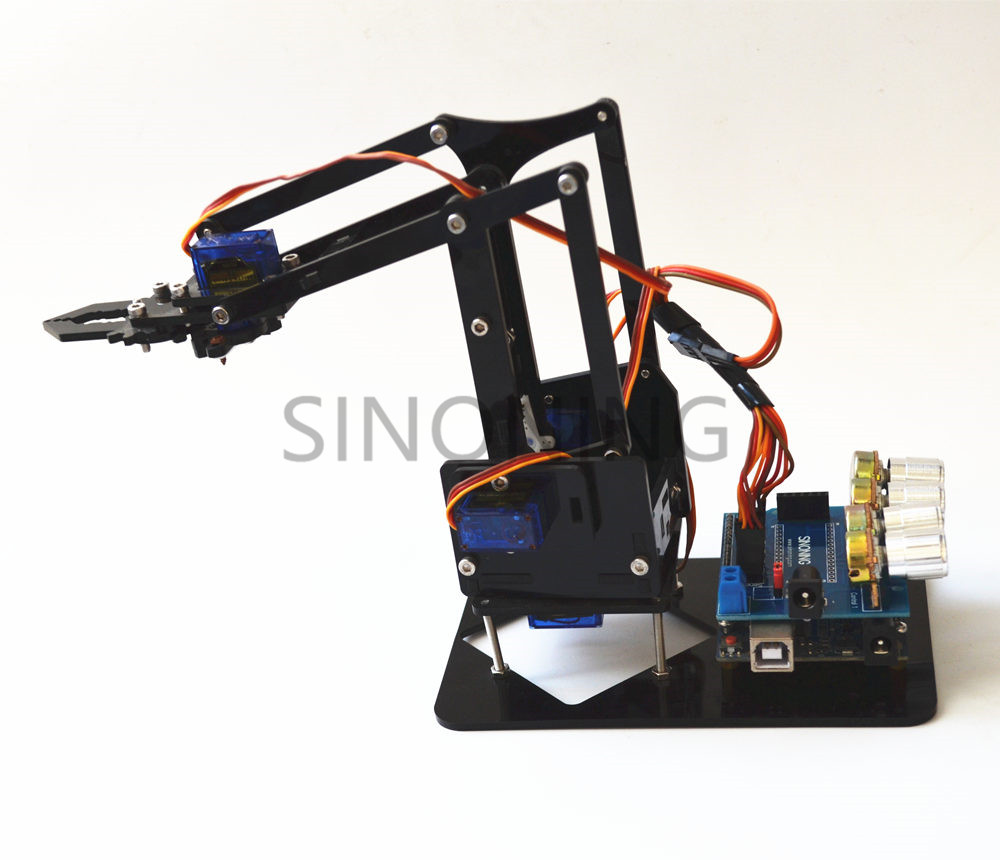 Arduino 4dof Acrylic Robotic Mechanical Arm Economic Kit SN1900