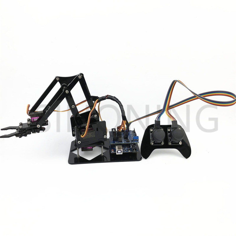 4DOF manipulator arduino Robotic arm remote control ps2 mg90s SNAM2000