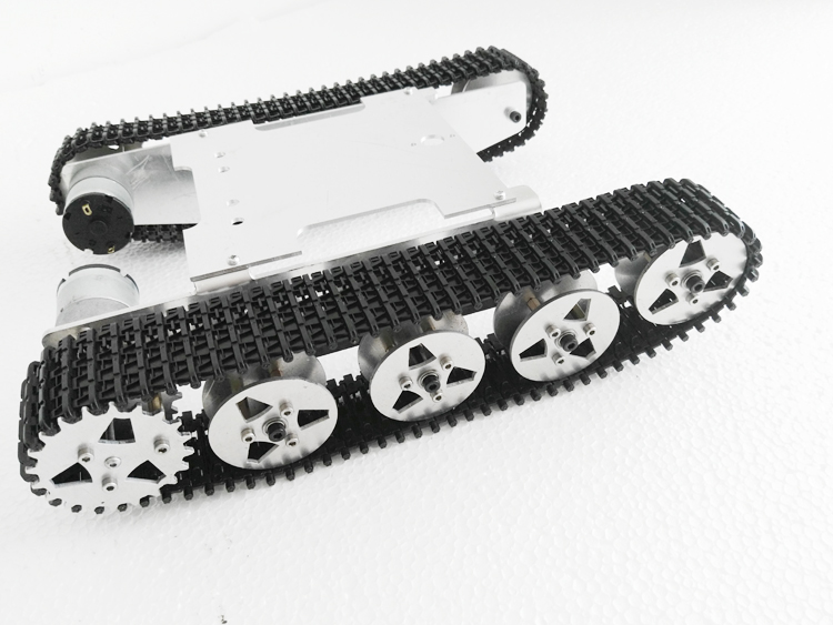 Aluminum Alloy Robot Tank Crawler Chassis For Arduino Education Competition SN1200