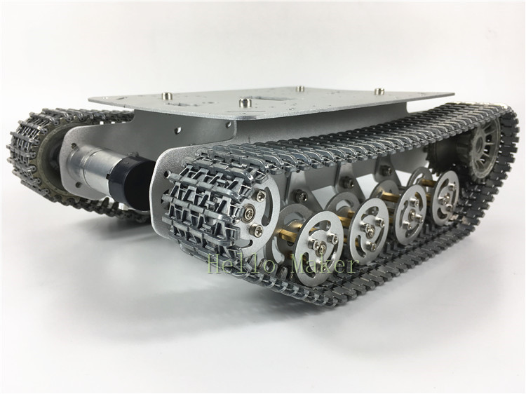 SN3000 All metal robot tank platform Shock Absorption Chassis Caterpillar Suspension metal track TS100 New for arduino