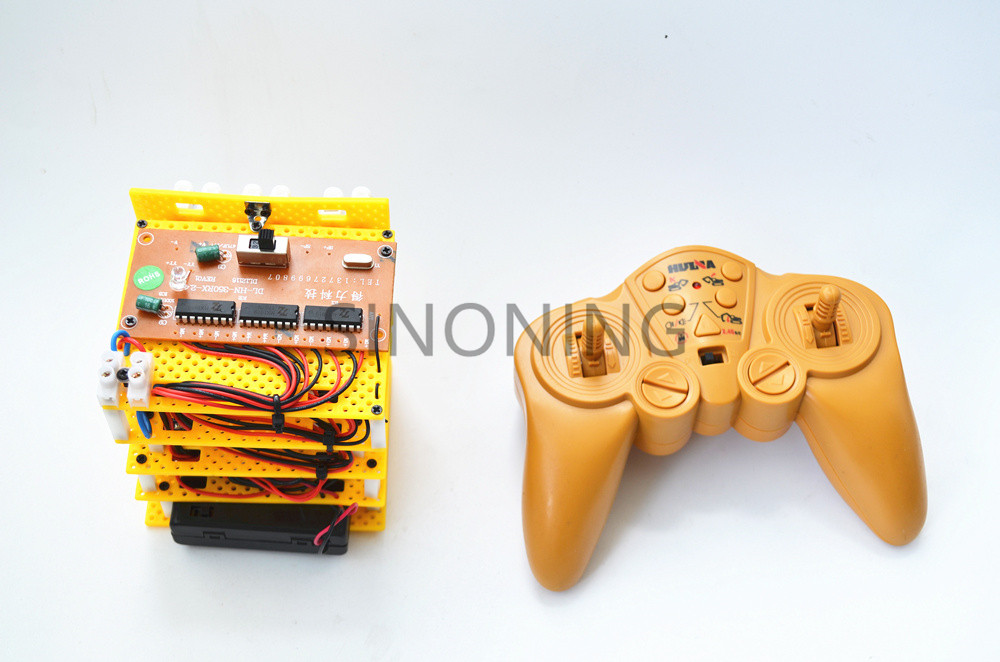 2.4G 12 channel high power 12V tank grab excavator robot remote control & receiver
